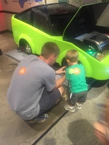Helping daddy fix a car
