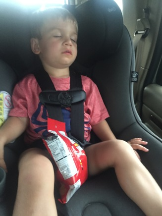 Approximately 3.5 minutes after leaving waterpark